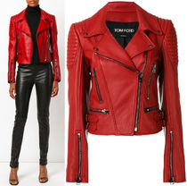 17-18AW TF012 CLASSIC FITTED LEATHER BIKER JACKET
