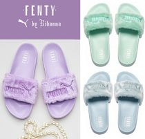 お早めに☆PUMA BY RIHANNA LEADCAT FENTY SLIDEファーサンダル