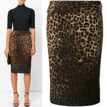 17-18AW TF017 LEOPARD PRINTED PENCIL SKIRT