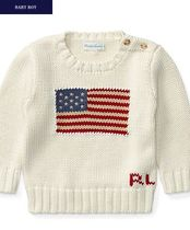 新作♪国内発送 FLAG COTTON SWEATER boys 0~24M