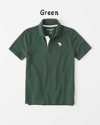 Abercrombie & Fitch トップス 【Abercrombie Kids】icon stretch polo 定番ポロシャツ☆(4)