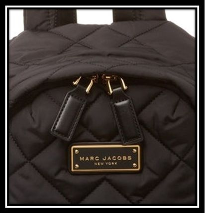 MARC JACOBS バックパック・リュック SALE! 人気キルティング ロゴ ナイロンバックバック 関税送料込(7)