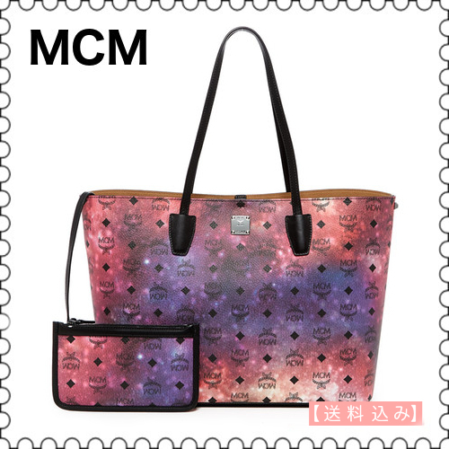【MCM】Medium Leather Galaxy Tote MWP7AVI18MB001★(正規)