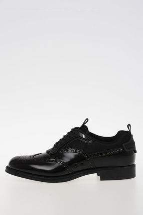 LEATHER AND NYLON DERBIES ダービー
