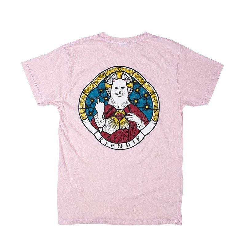 RIPNDIP STAINED GLASS TEE PINK