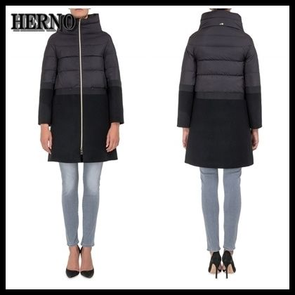 【海外発送】 HERNO ★2017AW 新作 Wool and Nylon Down Coat