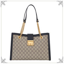 17AW新作【GUCCI】padlock GG Supreme Medium トートバッグ