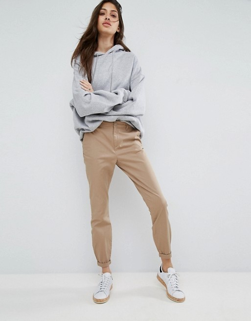 【ASOS】 Skinny Chino Trousers with Roll Up