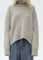 Asymmetrical Turtleneck Sweater in  Mastic Luc Cashmere