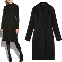 17-18AW TF024 FITTED DOUBLE BREASTED LONG WOOL COAT