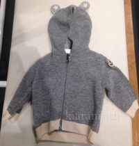 17/18AW☆MONCLER Baby クマ耳ウールパーカー(1~3歳)【関税込】