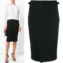 17-18AW TF031 SLIT FRONT COMPACT JERSEY PENCIL SKIRT