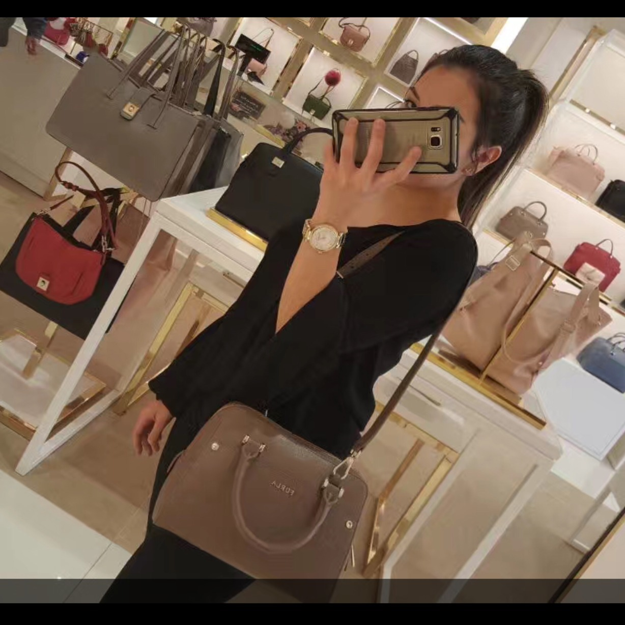 数限定!!【FURLA 】 Margot Small Leather Satchel ☆ 2WAY