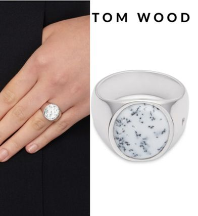 セレブ御用達★Tom Wood★Oval Moss Agate Silver Ring