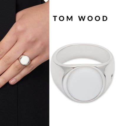 セレブ御用達★Tom Wood★Oval White Agate Silver Ring