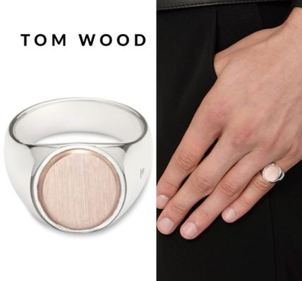 セレブ御用達★Tom Wood★Oval Rose Gold Top Silver Ring
