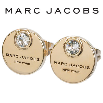 MARC JACOBS ピアスMJ coin studs M0009789-168 CRYSTAL/GOLD