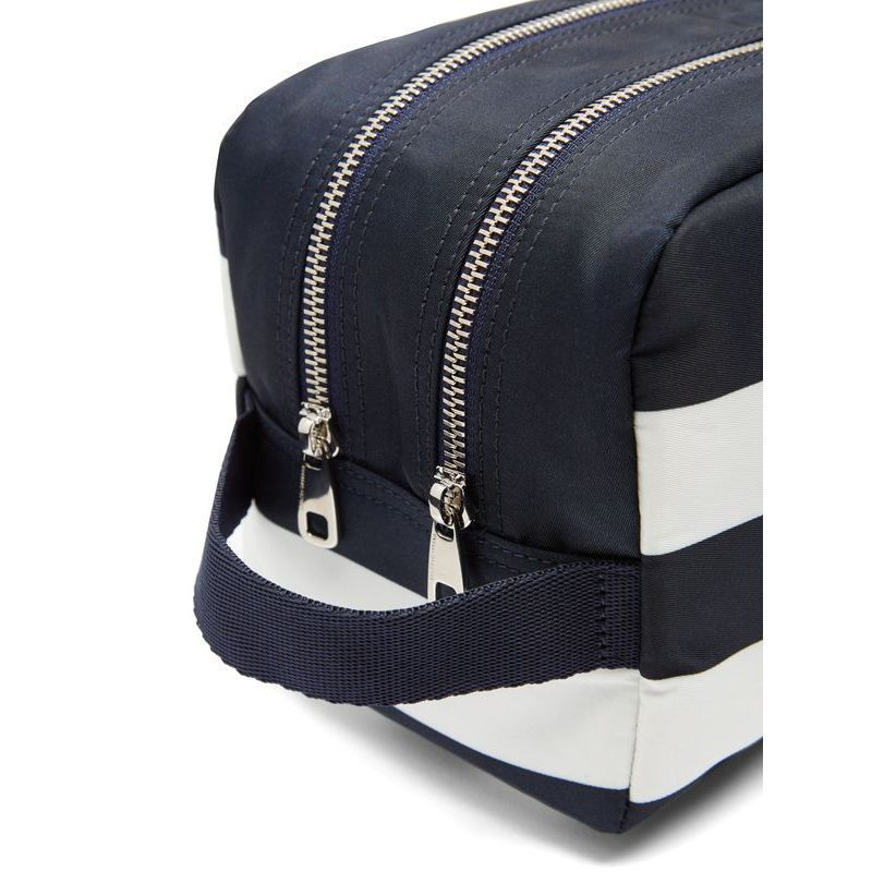 【Dolce & Gabbana】 Striped double-zip make-up bag