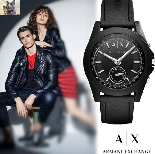 【Armani Exchange】HYBRID SMARTWATCH Black