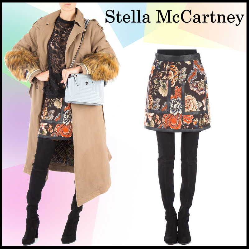 ★送料/関税無料★Stella McCartney Embroidered jacquard skirt
