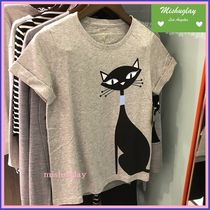 【kate spade】嬉しい再販★大人Cute♪黒猫ちゃんのcool cat tee