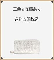 三色☆Genevieve Weave Large Continental Wallet☆送料☆関税込