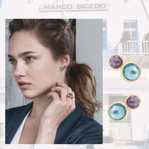 "MARCO BICEGO(マルコ ビチェゴ) イヤリング・ピアス  ""18K Yellow Gold Two Stone Stud with Topaz and Amethyst"""