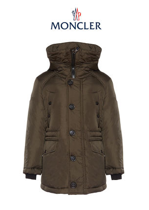 17AW MONCLER DIRK  大人もOK 8-14歳 ロングコート カーキ