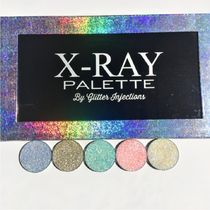 GLITTER INJECTIONS(グリッターインジェクションズ) フェイスパウダー X-RAY PALETTE☆ハイライター5種+パレットセット 送関込 追跡付