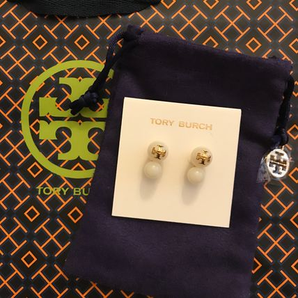 Tory Burch セール♪EVIE DOUBLE STUD EARRING ピアス★白