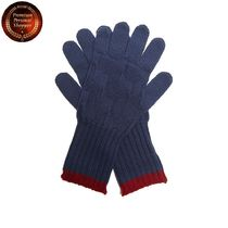 ETRO(エトロ) 手袋 【国内発・送関込】エトロ-Contrast-trim wool-knit gloves