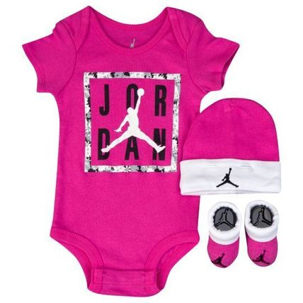 Jordan Cement Jumpman 3 Piece Creeper Set - Girls Infant
