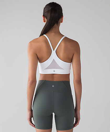 lululemon☆Train Times Bra メッシュスポーツブラ  white