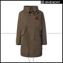 GIVENCHY(ジバンシィ) トレンチコート 【GIVENCHY】parka with Triangle patch and Eyes embroidery