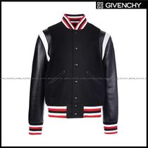 GIVENCHY(ジバンシィ) ブルゾン 【GIVENCHY】wool teddy jacket with leather sleeves