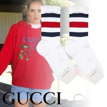 【関税保証】 GUCCI(グッチ)☆Cotton-blend striped frill socks