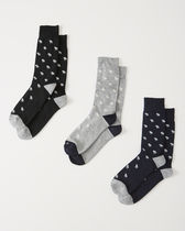 お得な3セット【Abercrombie&Fitch】3-PACK CASUAL SOCKS 靴下
