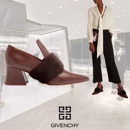 【17AW】GIVENCHY/Patricia Minkfer's Point Toレザーローファー