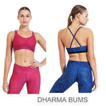 DHARMABUMS(ダーマバムズ) フィットネストップス DHARMABUMS★レース スポーツブラ Bliss Red Blue Lace