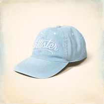 Hollister Co.(ホリスター) キャップ 【 国内即発送】ホリスター EMBROIDERED BASEBALL HAT★CHAMBRAY
