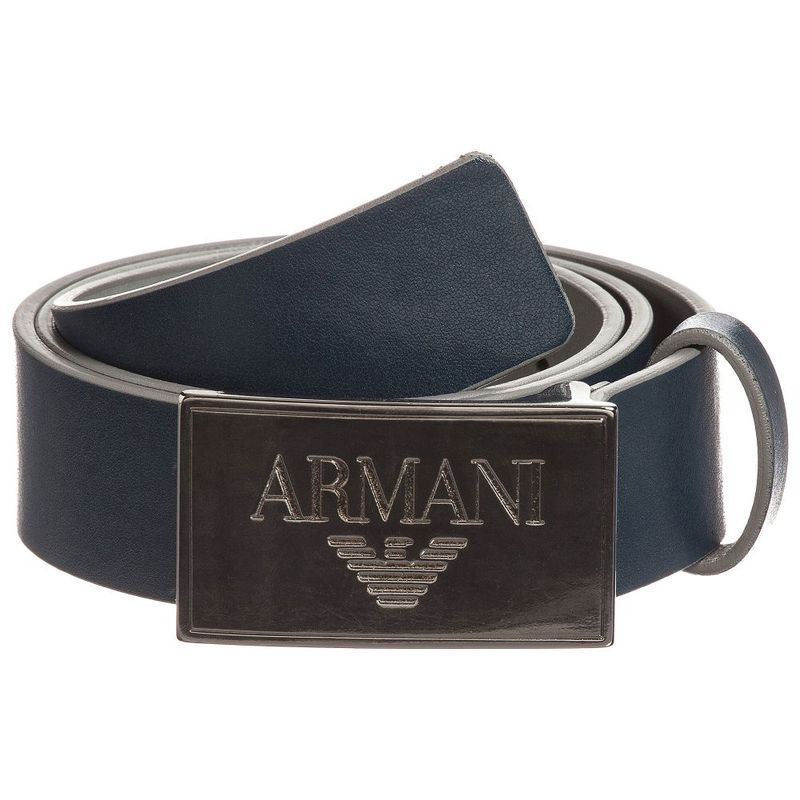 【関税/送料込】Armani Junior Boys Blue Logo Belt 国内発送