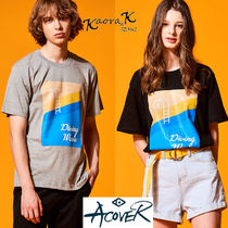 ACOVER(オコボ) Tシャツ・カットソー ★ACOVER★韓国発 ユニセックスDIVING WAVE T-SHIRTS【全3色】