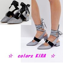 ASOS SPARKS Interchangeable Laces Mid Heels♪