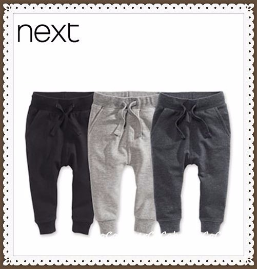 NEXT▼モノトーン♪スキニーズボン3枚セット▼1才6ヶ月〜6才