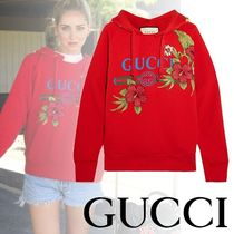 GUCCI(グッチ) パーカー・フーディ 【関税保証】GUCCI(グッチ)☆COTTON-JERSEY HOODED TOP