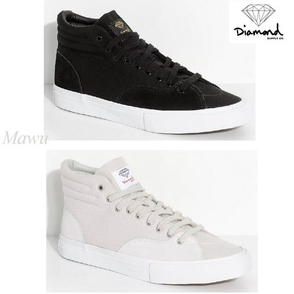 NEW★Diamond Supplyハイトップ Suede & Canvas Skate Shoes2色