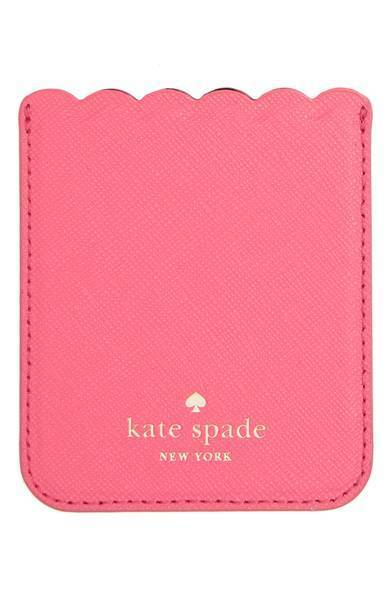 ★kate spade scallop leather smartphone case pocket★送料込