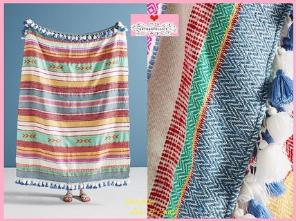 18AW☆最安値*関税送料込【Anthro】Woven Jemma Throw Blanket