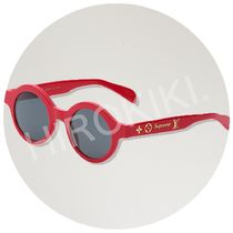Louis Vuitton × Supreme Downtown Sunglasses サングラス 赤