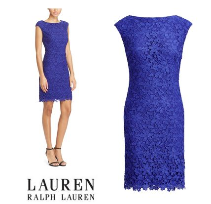 ラルフローレン〓 FLORAL LACE SHEATH DRESS